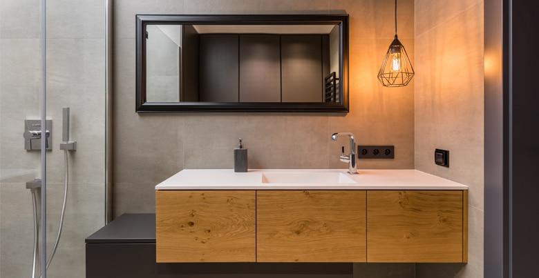 Badkamermeubels: stijl, design en materialen