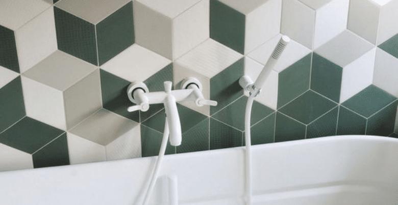 Tegels badkamer: geometrisch